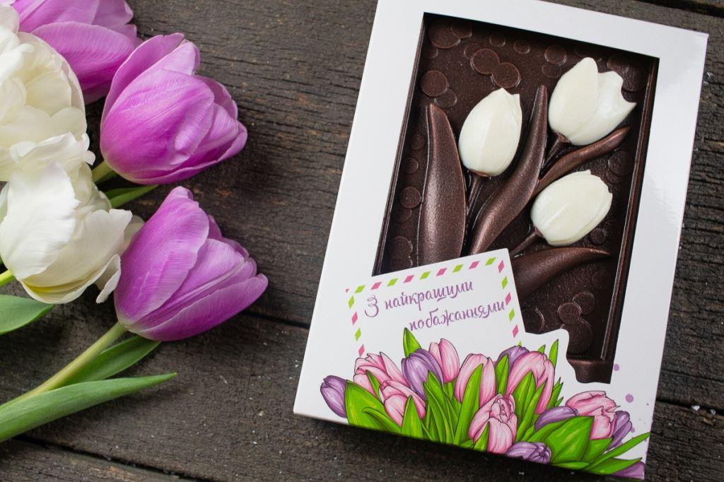 Шоколадные тюльпаны 320 грамм