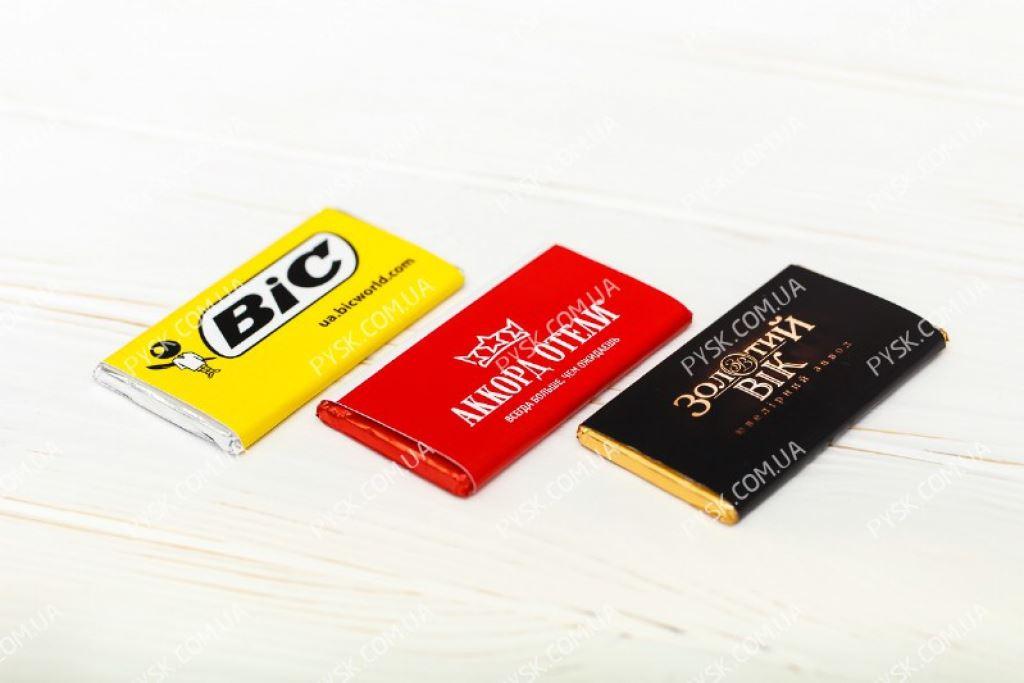 Шоколадки с логотипом в фольге