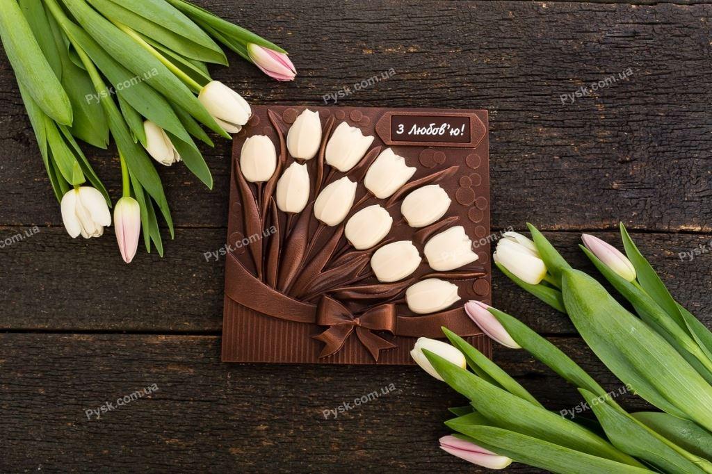 Композиция шоколадные тюльпаны