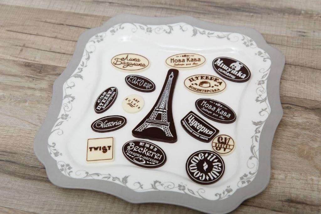 Декор из шоколада с логотипом