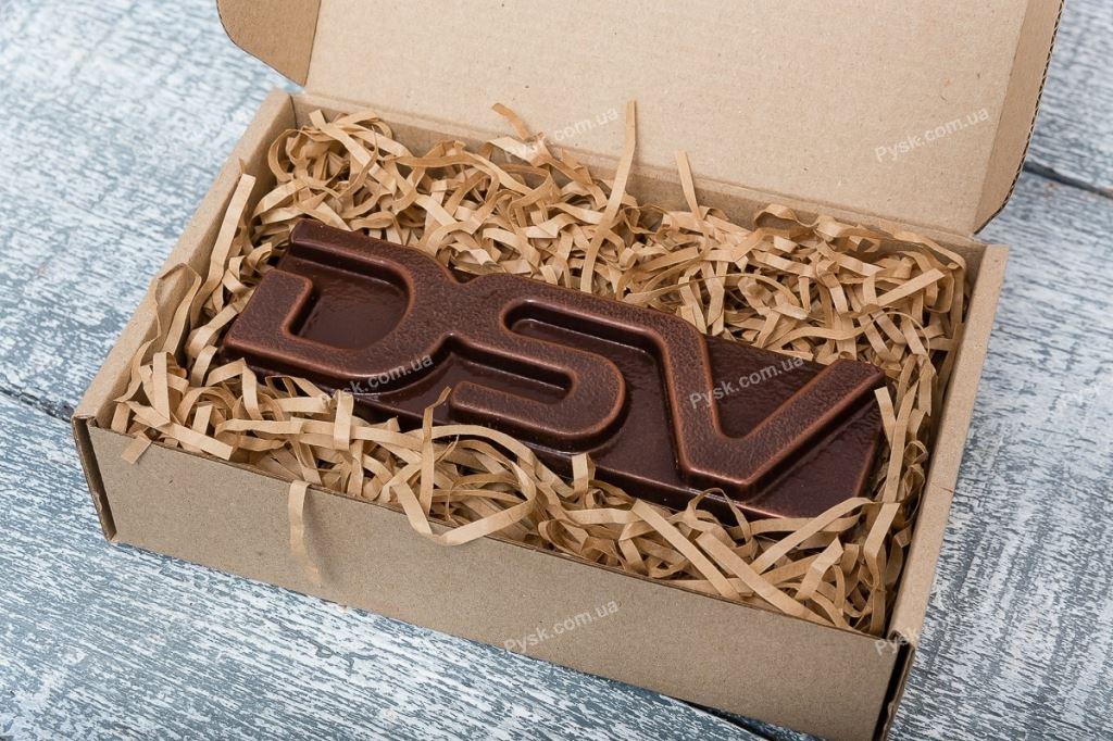 Шоколадный 3D логотип