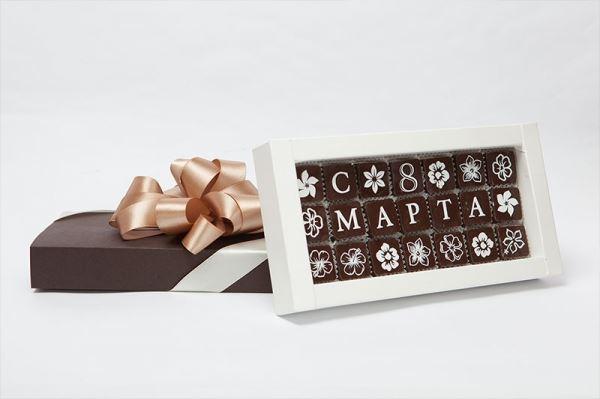 Изготовление на заказ наборов шоколадных конфет