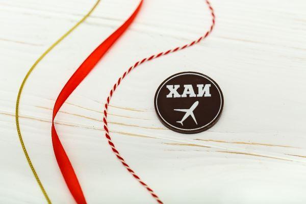 Шоколадный медальон с логотипом