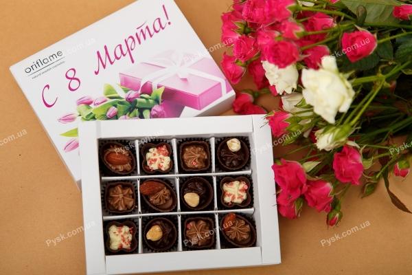 Шоколадный набор 12 конфет