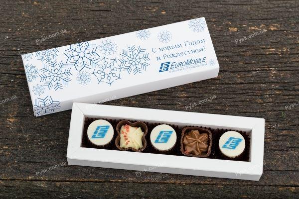 Набор на 5 конфет с логотипом