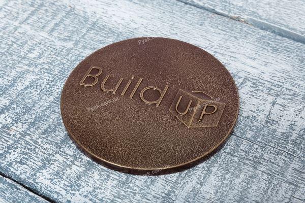 Шоколадная барельеф с логотипом